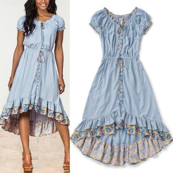 Matilda Jane Blue Stripe Come Away with Me Dress